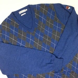 Peter Millar 100% Merino Wool V - Neck Sweater.